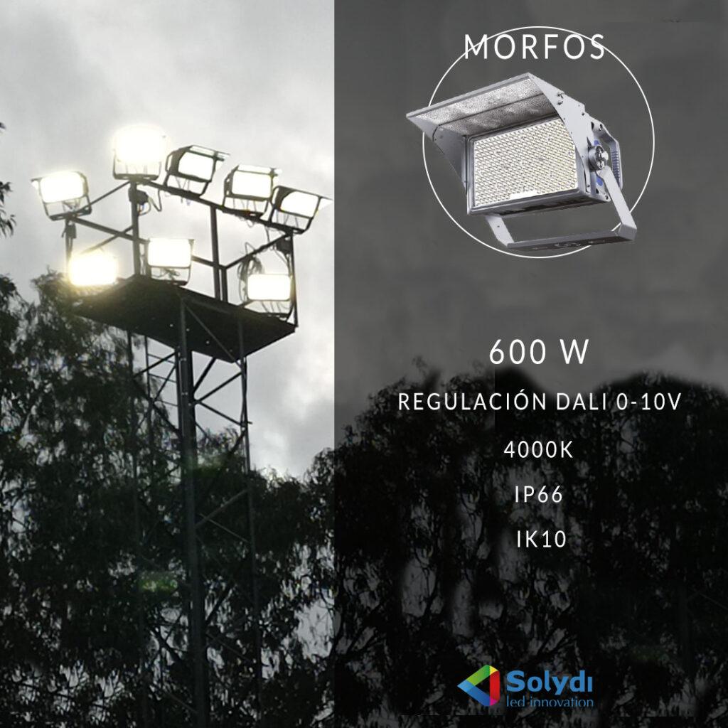 Proyector deportivo morfos campo de futbol pizarra