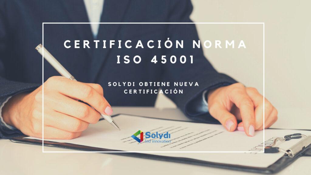 Certificación Norma ISO 45001